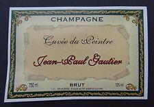 Ancienne étiquette Champagne JEAN-PAUL GAUTIER cuvée du peintre french label