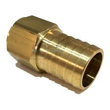 "1"" HOSE BARB X 3/4""  FEMALE NPT Brass Pipe Fitting NPT Thread Gas Fuel Water Air"