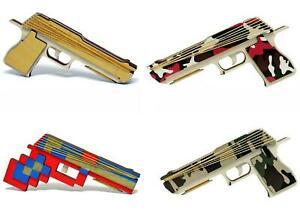 Automatic Shooting Pistol Elastic Rubber Band Launcher Gun 10 Bands Included