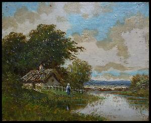 Paysage Peinture à l'huile sur bois 19e siècle Barbizon Diaz Monticelli Ziem