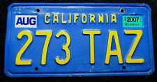 USA Nummernschild California in gelb auf blau ein Klassiker. 13707.