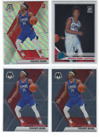 Terance Mann 4 Card Lot 2019-20 Mosaic #246 Silver Prizm Optic Rated RC #165 🏀