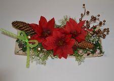 Weihnachts Tischdeko  auf Birkenrinde Rot