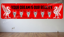 Liverpool Fc Flag Banner 2x8ft You'll Never Walk Alone Champions League Banner