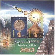Kyrgyzstan 2012 Mayan Calendar/Pyramid/Gold Figurine/Sun/Planets 2v m/s (s2216c)