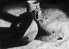 WWII German Battlefield Relic Helmets Drawing Fine Art Print Gasmask Can Poster