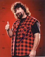 "MICK FOLEY CACTUS JACK WWE SIGNED 8""x10"" PHOTO w/ COA AUTOGRAPH"