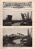 1906 Scientific American Supp April 21-Bascule Bridge; Fountain Pens; Telephones