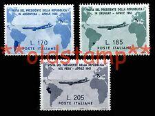 ITALIA 1961 Serie Gronchi 3v. MNH ** + OMAGGIO ECCEZIONALE ITALY complete set