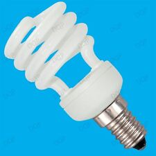 4x 14W Low Energy CFL Mini Spiral Light Bulbs; SES, E14