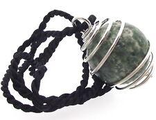 ALBERO Agate Crystal Gemstone Sphere pendente spirale