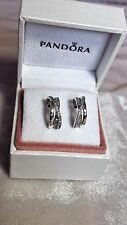 Pandora Entwined Hoop Sterling Silver Earrings. S925 ALE with BOX