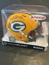 DAVANTE ADAMS SIGNED GREEN BAY PACKERS SPEED MINI HELMET JSA COA #WPP980168