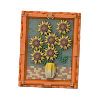 World Famous Painting MOC Van Gogh's Sunflowers Building Blocks Set Toys Bricks