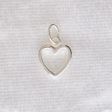 Sterling Silver Open Love Heart Charm 10mm 925