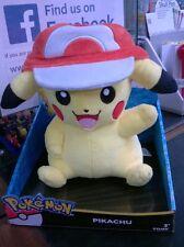 Pokemon Tomy T18981 Pikachu with Ash Cap Hat plush soft toy new