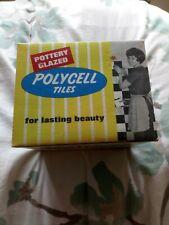Vintage Retro Pottery Glazed Polycell Tiles Original Box - Display item