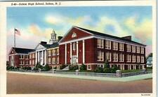 SALEM, New Jersey  NJ   SALEM HIGH SCHOOL  c1940s  Linen  Postcard