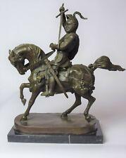 Bronzefigur Reiter auf Pferd Bronze Ritter Skulptur
