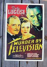 Murder By Television Lobby Card Movie Poster Bela Lugosi