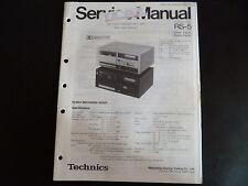 Original Service Manual Technics Cassette Deck RS-5