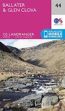 Ballater Glen Clova Landranger Map 44 Ordnance Survey 2016