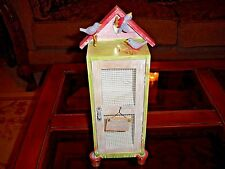 New listing Wood Bird House Hand Painted Spring Decor
