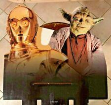 Star Wars Cardboard Display wtih R2D2 and Yoda