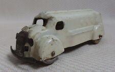 Awesome Rare Pressed Steel White Ambulance Toy - Wyandotte 1930s