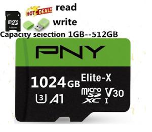 PNY Memory Card Micro SD Card 1024GB 512GB 256GB 128GB 64GB High Speed TF Card