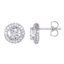 halo-style Orecchini di diamanti in 14k oro bianco (1 1/2 ct. TW