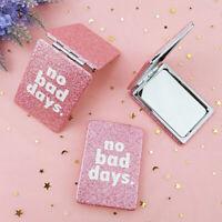 Makeup Compact Mirror Mini Travel Cosmetic Folding Portable Pocket Mirror Dou_hc