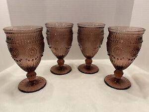 The Pioneer Woman Vintage Set of Goblet Glasses in Purple