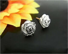 Hot Fashion Gracious Women 925 Sterling Silver Flower Stud Earrings Jewelry A064