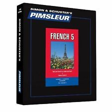 Pimsleur Learn/Speak FRENCH Language Level 5 CDs NEW!!
