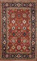 Geometric Heriz Oriental Traditional Area Rug Handmade Wool 4x6 Kitchen Carpet