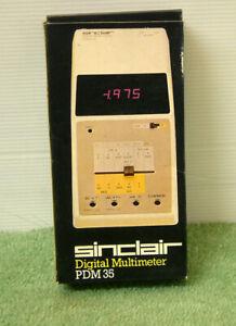 Vintage Sinclair PDM-35 Digital LED Multimeter (1975/6) - Boxed Mint Condition