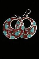 """HANDMADE TIBETAN EARRING NEPAL EARRING NEPALESE EARRING BEAUTIFUL EAR RING 2.25"""""""