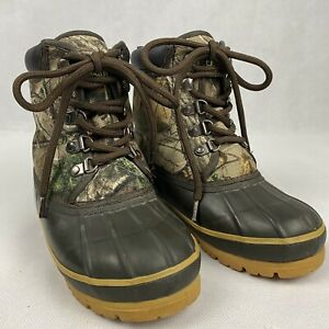 Magellan Boy's Realtree Camo Hunting Waterproof Boots Youth Size 13
