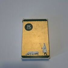 More details for vintage playing card set old p&s ltd shepperd and sheep golden color with box