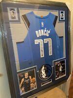 Luka Doncic Authentic Autograph Framed Jersey COA NBA Mavericks