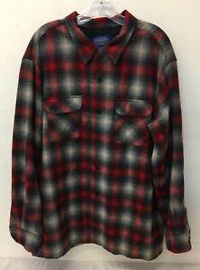 Men's Pendleton Red/Gray LS Board Shirt Size XL
