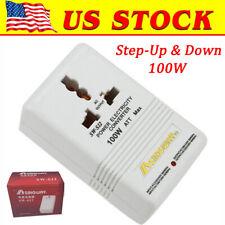100W Ac 110V/120V to 220V/240V Dual Voltage Transformer Power Converter