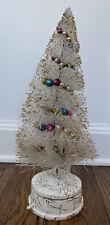 Vintage Bottle Brush Christmas Tree With Music