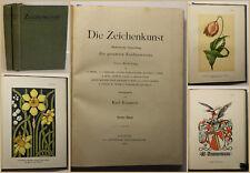Kimmich die Zeichenkunst 1900 2 Bde Kultur Kunst Malerei Darstellung Technik sf