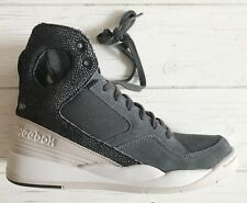 b825db8a760 Features  Lace-Up. REEBOK Classic ALICIA KEYS Women s DARK GRAY White Wedge  HIGH-TOP SNEAKER 6.5 NW