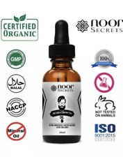 Organic Beard Oil for Beard Growth - 30 ml - with Conditioner - Fragrance Free