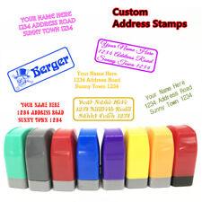 Custom Return Address Stamp Name Signature Office Pre Self Inking Rubber Stamper