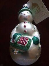 Patricia Breen Designs Snowman In Pearl/Red/Green