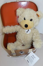 STEIFF BEAR 012938 CHARLY DANGLING TEDDY BEAR IN SUITCASE  NEW